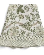 NYHET Chamois-rund-linneduk-floral, 180cm cm