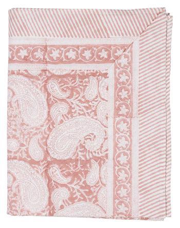 Chamois-Big Paisley-duk fuchsia rose