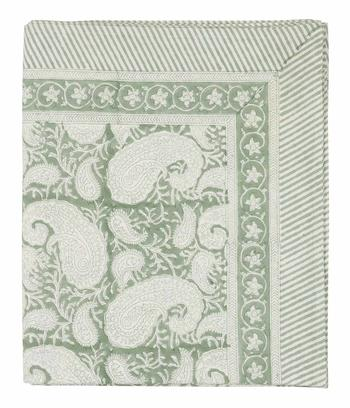 Chamois-paisley-duk sea foam, 2 storlekar