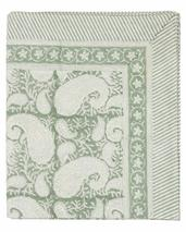 Chamois-paisley-duk sea foam