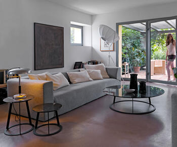 Casamania-Albino-soffbord ,diameter 90cm