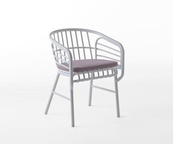Casamania-Raphia aluminium-karmstol
