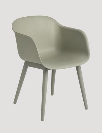 Muuto Fiber armchair, wood base