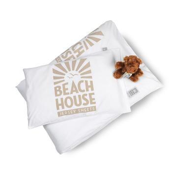 Beach House baby påslakan logo