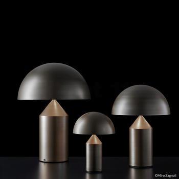 Oluce-Atollo 239  medium, satin bronze