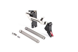 ZEV Fulcrum Adj Trigger Drop-In Kit, Gen1-4, 45 ACP Blk/Red