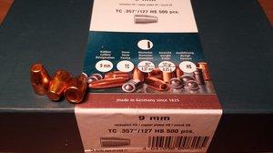 """HN 9 mm TC .357""""/127 Grain TC HS, 500 st"""