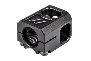 ZEV PRO Compensator V2, 1/2x28 Threading, 9mm, Black