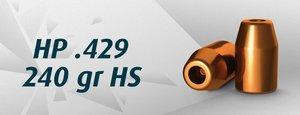 """HN..44M HP .429""""/240 Grain HP HS, 500 st"""
