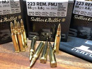 S&B .223R 55G FMJ, 100 ptr