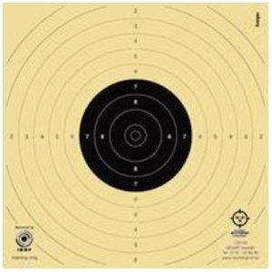 Luftpistoltavla  14x14 cm, 7,5m