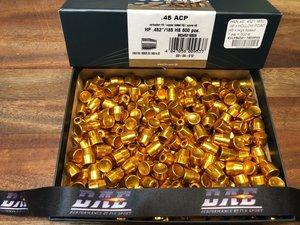 """HN .45"""" HP .452""""/185 Grain HP HS, 500 st"""