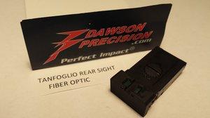 Dawson Adj Rear Sight Tanfoglio Fiber Optic
