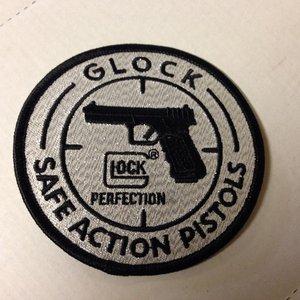 Glock Patch Silver/black