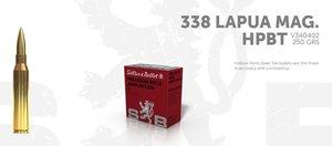 S&B 338 Lapua Mag 250gr HPBT 10 ptr