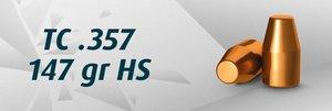 """HN 9 mm TC .357""""/147 Grain TC HS, 500 st"""