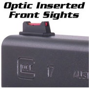 Glock Front Sights, FIBER OPTIC, (FO)