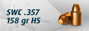 "HN .38"" SWC .357""/158 Grain SWC HS, 2000 st"