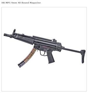 ETS HK MP5 9mm - 40 Round Magazine