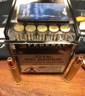 Federal Game SHOK .22 WMR, 50 Gr JSP