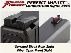 Glock Competition Rear Sight BLK Wide Notch