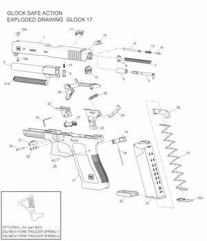 Glock 23 Gen 1-3 Reservdelar