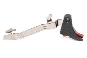 ZEV PRO Curved Face Glock Trigger Bar Kit, G43, Blk/Red