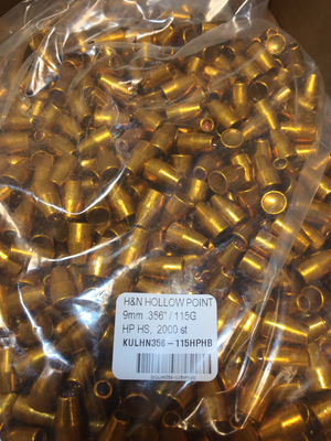 HN 9 mm HP .356/ 115 Grain HP HS, BULK