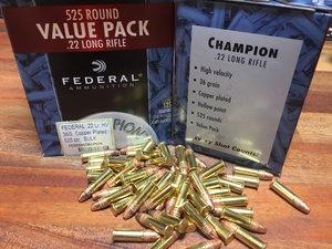 Federal .22 Lr, High Velocity, 525 ptr Value Pack