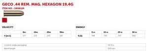 GECO .44 Magnum HEXAGON 300G 50 ptr