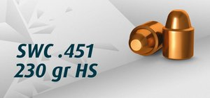 "HN .45 SWC .451""/230 Grain SWC HS, 500 st"