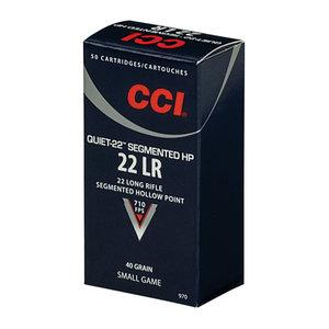 CCI .22 Lr, QUIET-22 SEGMENTED HP 50 ptr