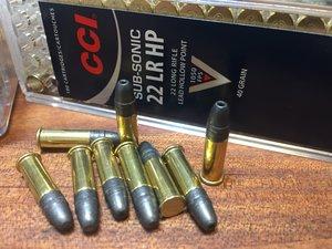 CCI .22 Lr, SUB-SONIC .22 Lr HP 100 ptr