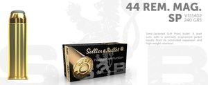 S&B .44 Magnum 240G SP, 50 ptr