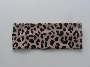 Pannband Rosa leopard