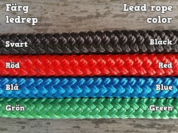 Lead rope with loop and rope popper - 10 mm
