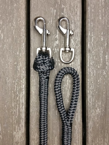 Long loop reins with removable snaps - 10 mm