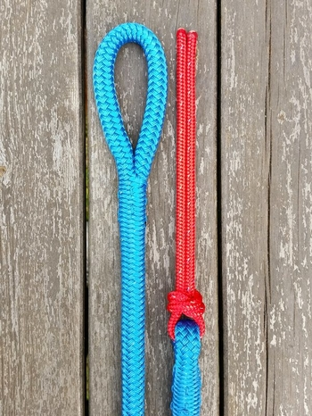 Lead rope with loop and rope popper - 14 mm