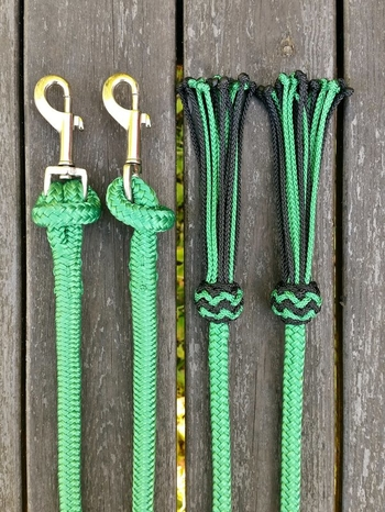 Split reins with removable snaps and tassels