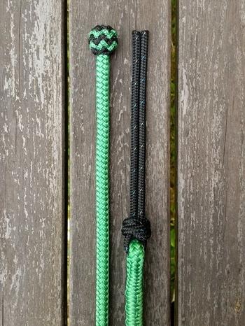 Mecatetygel med ändknop och repsnärt