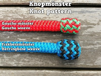 Mecate rein with end knots