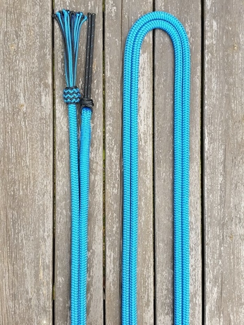 Mecate rein with tassel and rope popper