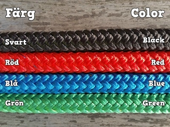 Long split reins with permanent snaps  and back splices - 10 mm