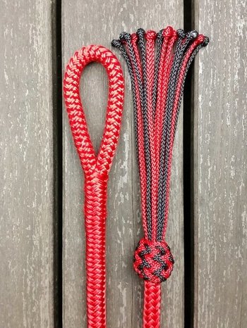 Lead rope with loop and tassel - 10 mm