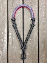 Rope bosal with rein loops