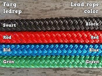 Ledrep med repfäste och ändknop - 10 mm