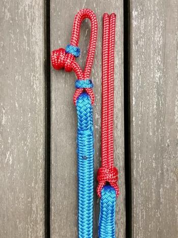 Ledrep med repfäste och repsnärt - 14 mm