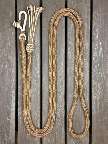 Ledrep med repfäste och tofs - 14 mm