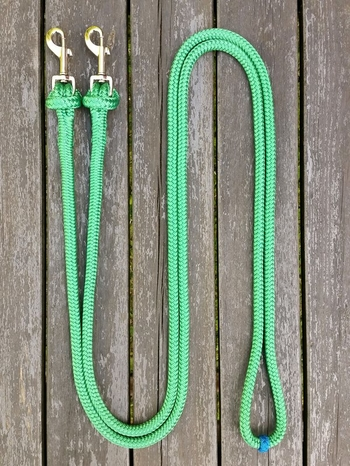 Loop reins with removable snaps and middle marker