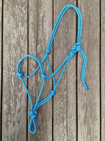 Standard rope halter - Shetland, Blue